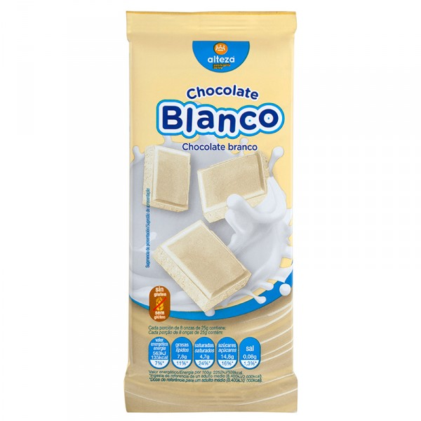 CHOCOLATE ALTEZA EXTRAFINO BLANCO 75 GRS