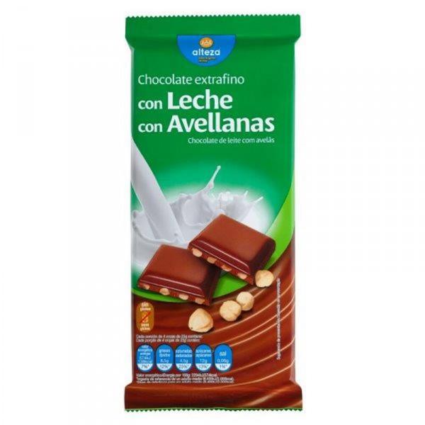 CHOCOLATE ALTEZA CON AVELLANAS 150 GRS