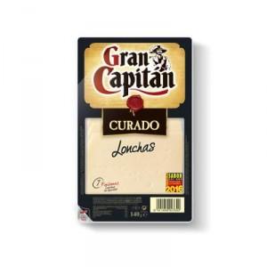 QUESO GRAN CAPITAN CURADO LONCHAS 140 GRS