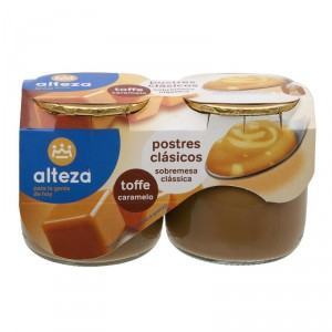 POSTRE ALTEZA TOFFE PACK 2 UNDS X 135 GRS