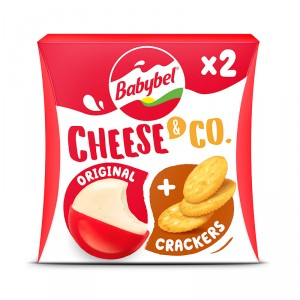 QUESO MINI BABYBEL & CRACKERS PACK 2 UNDS