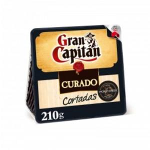 QUESO CURADO CORTADAS GRAN CAPITAN 210 GRS