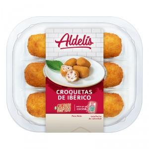 CROQUETAS ALDELIS IBERICO PREFRITAS 190 GRS.