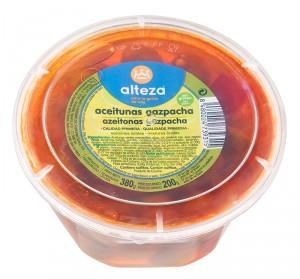 ACEITUNA ALTEZA GAZPACHA TARRINA 380 GR., 200 GR. P.E.