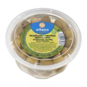 ACEITUNA ALTEZA MANZANILLA SIN HUESO 380 GR., 150 GR P.E.