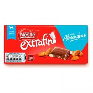 CHOCOLATE NESTLE EXTRAFINO ALMENDRA 123 GRS