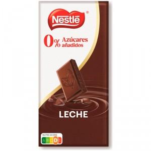 CHOCOLATE NESTLE CON LECHE Y SIN AZUCAR 125 GRS