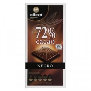 CHOCOLATE ALTEZA NEGRO 72% DE CACAO 100 GRS