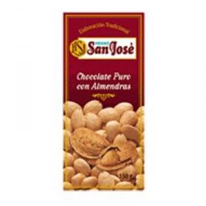 CHOCOLATE HORNO SAN JOSE PURO CON ALMENDRAS S/AZUCAR 150 GR.