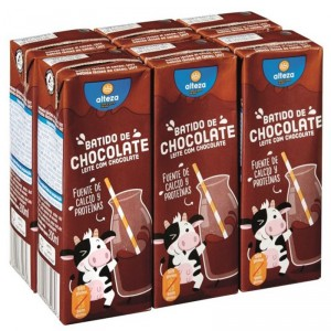 BATIDO ALTEZA CHOCOLATE PACK 6 UNDS X 200 ML.