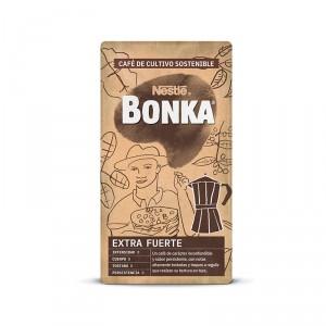 CAFE BONKA CAFETERA ITALIANA EXTRAFUERTE MOL.NATURAL 250 GRS
