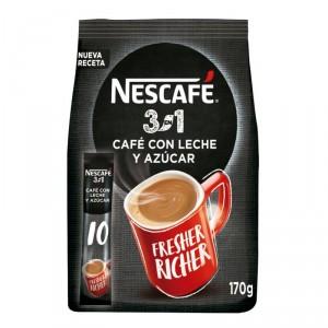 CAFE NESCAFE 3 EN 1 10 SOBRES X 17 GRS