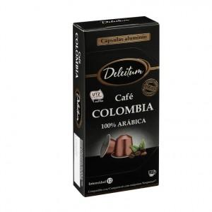 CAFE DELEITUM COLOMBIA 10 CAP.X 5 GRS.COMPATIBLE NESPRESSO