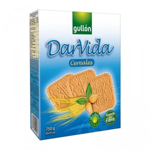 GALLETA GULLON CEREALES DARVIDA 750 GRS