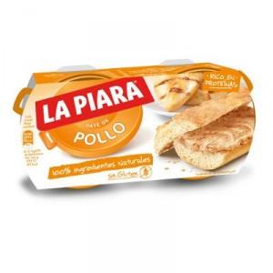 PATE LA PIARA DE POLLO SIN GLUTEN PACK 2 UNDS X 75 GRS