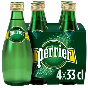 AGUA PERRIER CON GAS MINERAL BOT 33 CL. P-4 UNDS
