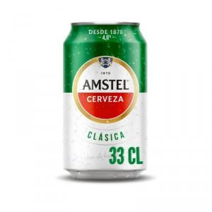 CERVEZA AMSTEL CLASICA LATA 33 CL.
