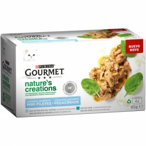 ALIM.PURINA GOURMET NATURE'S CREATIONS FILET.PESCAD.P-4X85GR