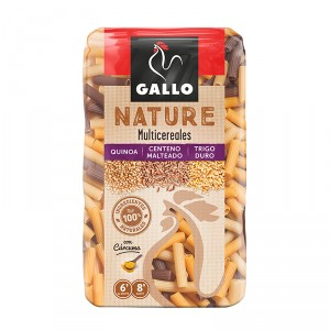 PASTA GALLO NATURE MACARRON MULTICEREALES 400 GRS