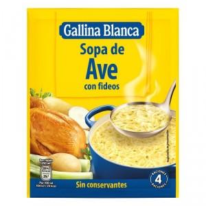 SOPA GALLINA BLANCA AVE CON FIDEOS 80 GRS