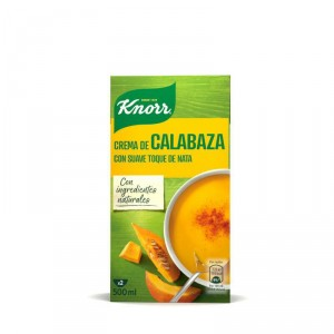 CREMA 100% NATURAL KNORR DE CALABAZA 450 ML.
