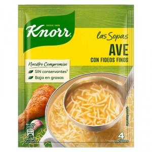 SOPA KNORR AVE CON FIDEOS 61 GRS