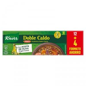CALDO KNORR DOBLE CALDO CARNE 16 PASTILLAS
