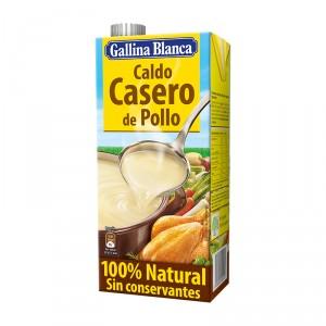 CALDO GALLINA BLANCA CASERO POLLO 100% NATURAL BRIK LITRO