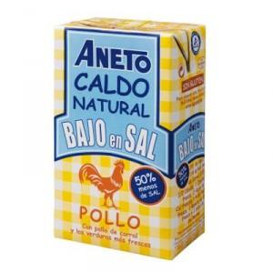 CALDO ANETO POLLO BAJO EN SAL BRIK 1 LITRO