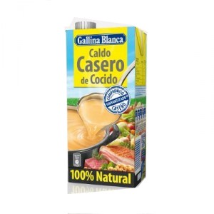 CALDO GALLINA BLANCA CASERO COCIDO 100% NATURAL BRIK LITRO