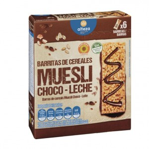 BARRITA ALTEZA CEREALES CHOCOLATE 6 UNDS 150 GRS