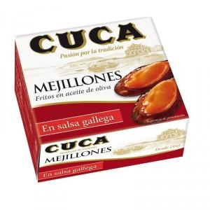 MEJILLONES CUCA SALSA GALLEGA RO-100 96 GR., 50 GR. P.E.