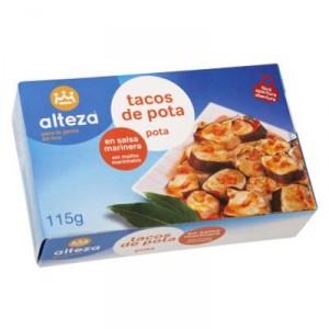 TACOS DE POTA ALTEZA SALSA MARINERA OL-120 F.A,72 GRS.P.E