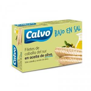 FILETE DE CABALLA CALVO ACEITE OLIVA B/SAL 120 GRS. 82 P.E