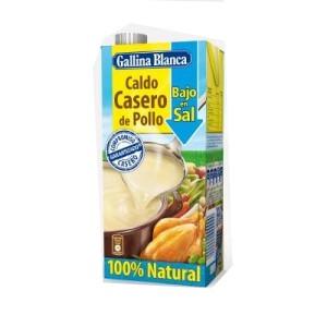 CALDO GALLINA BLANCA CASERO POLLO BAJO EN SAL 100% NATURAL L