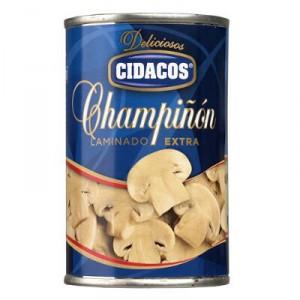 CHAMPIÑON CIDACOS LAMINADO 150 GR., 85 GR. P.E.