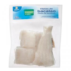 FILETES DE BACALAO ALTEZA CONGELADO 400 GRS. 360 GRS P.E.