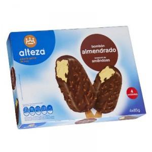 HELADO ALTEZA BOMBON ALMENDRADO PACK 4 UNDS X 85 GRS