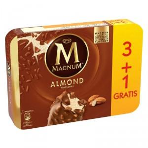 HELADO FRIGO MAGNUM ALMENDRA PACK 3 UNDS 328 GRS