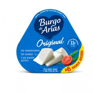 QUESO BURGO DE ARIAS OVNI NATURAL PACK 6 UNDX72 GRS
