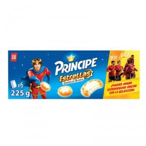 GALLETAS PRINCIPE ESTRELLA CHOCOLATE BLANCO 225 GRS