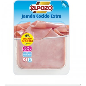 JAMON COCIDO EXTRA ELPOZO 200 GRS