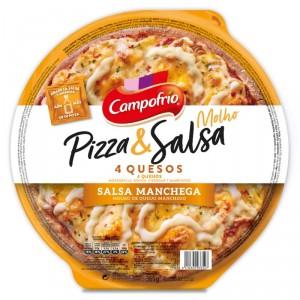 PIZZA CAMPOFRIO 4 QUESOS MASA FINA CON SALSA 365 GRS
