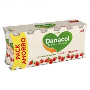 YOGUR DANONE DANACOL LIQUIDO FRESA PACK 12 UND X 100 GRS