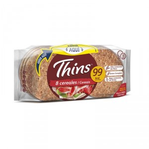 PAN BIMBO THINS 8 CEREALES PACK 8 UNDS 310 GRS