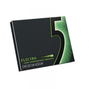 CHICLE FIVE HIERBABUENA ELECTRO 12 LAMINAS UND