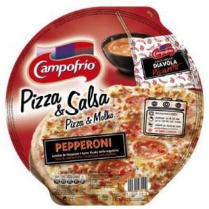 PIZZA CAMPOFRIO PEPPERONI PICANTE MASA FINA CON SALSA 355 GR