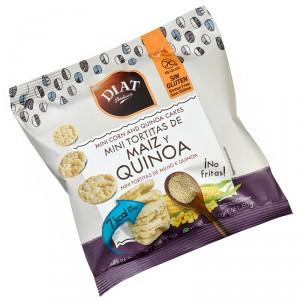 MINI TORTITAS DIET SIN GLUTEN DE MAIZ Y QUINOA 50 GRS