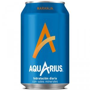 AQUARIUS NARANJA LATA 33 CL.
