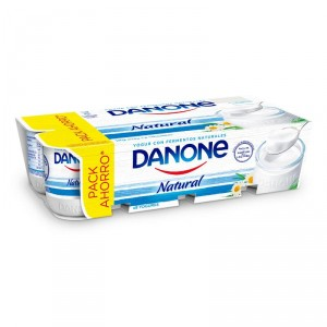 YOGUR DANONE NATURAL PACK-8 X 125 GRS